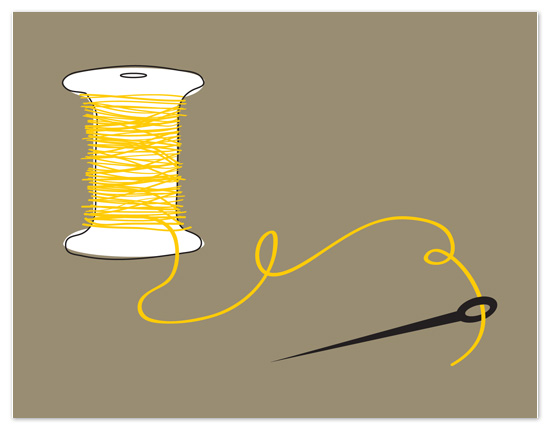 personal stationery - Needle and Thread by Lindsey Glenn