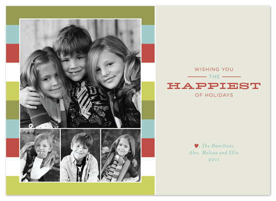 holiday photo cards - happiest of holidays by Carrie Eckert