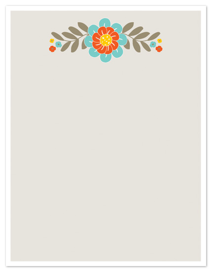 personal stationery - Blooming by Leslie Ann Jones