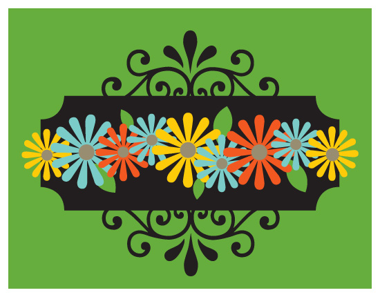 personal stationery - Steel Daisies by Jen Jackson
