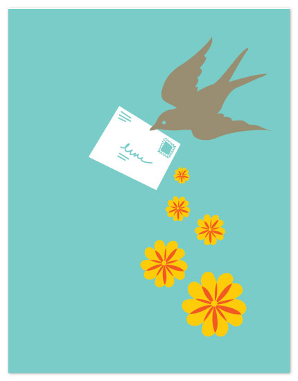 personal stationery - Falling Flowers by Jeni Paltiel