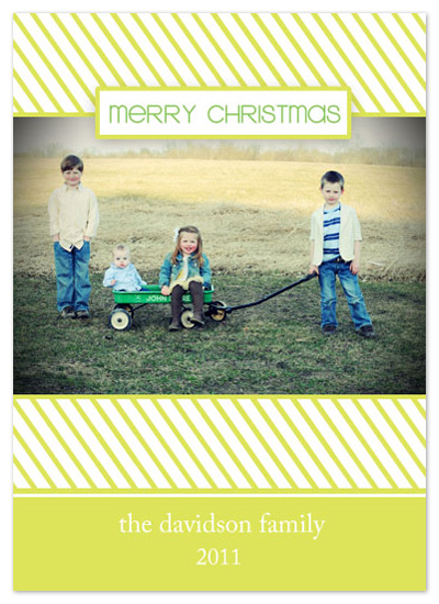 holiday photo cards - Candycane Stripe by Scriptiva Paper