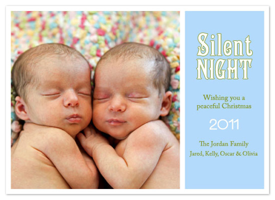 holiday photo cards - Silent Night until morning by Scriptiva Paper