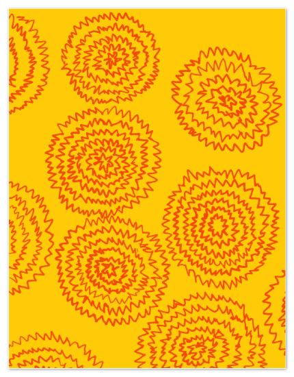 personal stationery - Zig Zag Flowers by J design