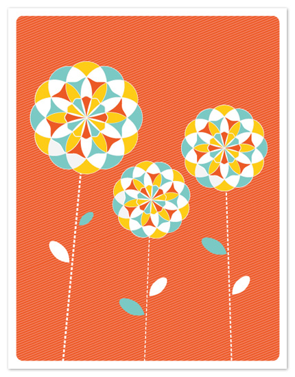 personal stationery - Lollipop Blooms by Melanie Severin