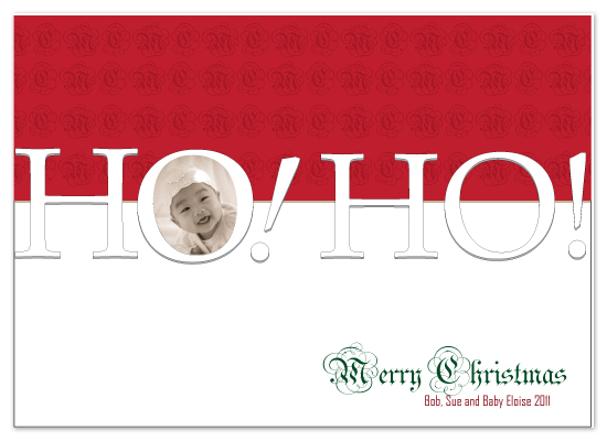 holiday photo cards - ho! Ho! Merry Christmas by Gayletrini