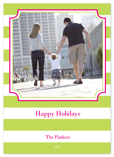 holiday photo cards - Bold Holiday Stripe by Whitney Beard