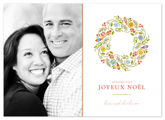 holiday photo cards - Trimmed Wreath by Kimberly Morgan
