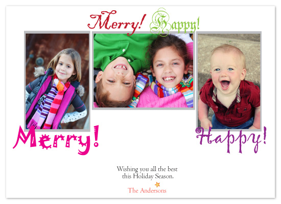 holiday photo cards - Merry Merry Happy Happy by Gayletrini