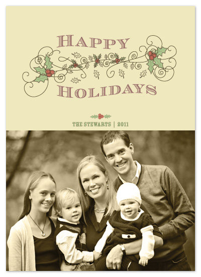 holiday photo cards - Happy Vintage by a visual concept
