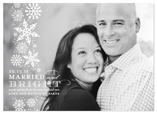holiday photo cards - Married and Bright by Lauren Chism