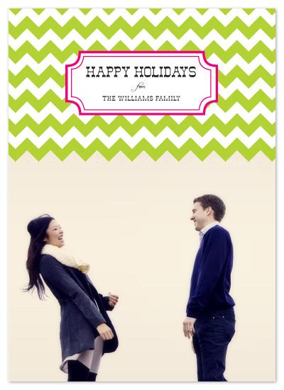 holiday photo cards - Chevron Holiday by Whitney Beard