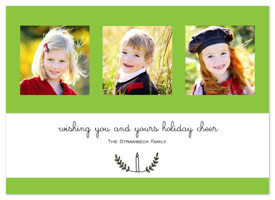 holiday photo cards - Candle Wreath by Whitney Beard