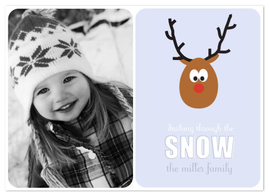holiday photo cards - Rudolph by Courtney Michelle Designs