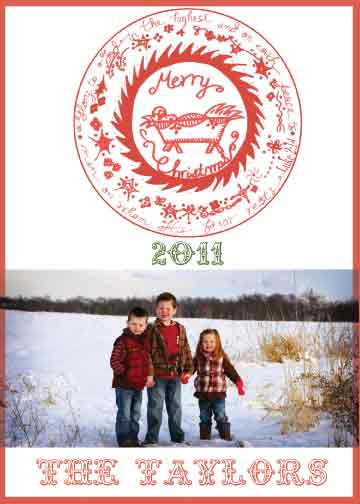 holiday photo cards - Christmas Sleigh Ride by Tricia Lowenfield