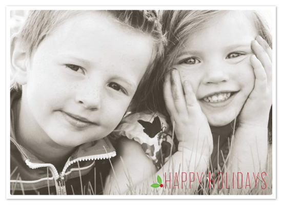 holiday photo cards - Holly Holiday by Jillian Van Weelden