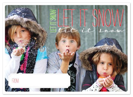 holiday photo cards - Let it Snow 3x by Jillian Van Weelden