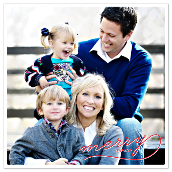 holiday photo cards - We're Merry! by Jillian Van Weelden