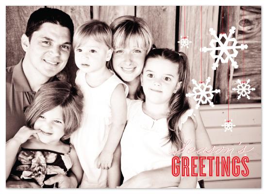 holiday photo cards - Paper Snowflakes by Jillian Van Weelden