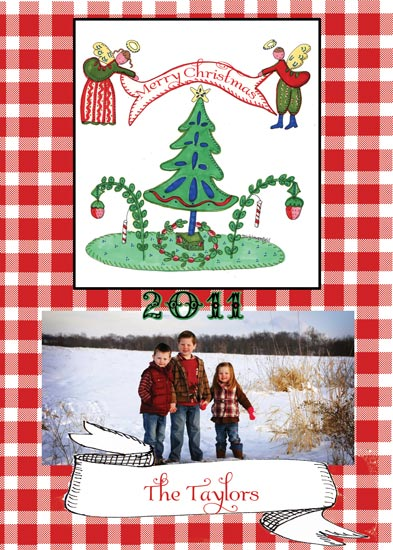 holiday photo cards -  Angel Banner Christmas by Tricia Lowenfield