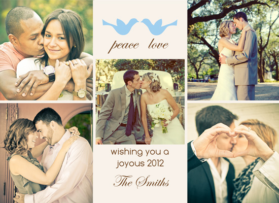 Holiday photo cards dove love couples holiday card by neha gupta