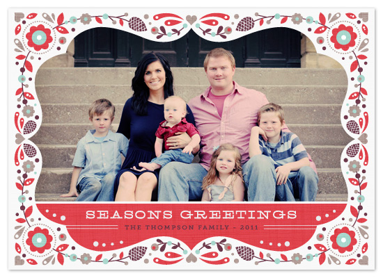 holiday photo cards - Festive Frame by Kristen Smith