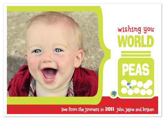 holiday photo cards - World Peas by Stephanie Pearson