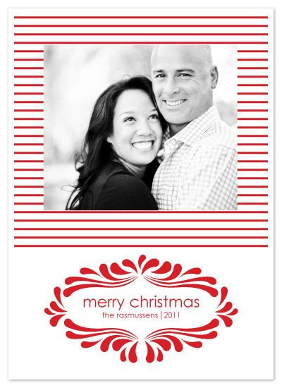 holiday photo cards - Candy Cane Flourish by Julie Rasmussen