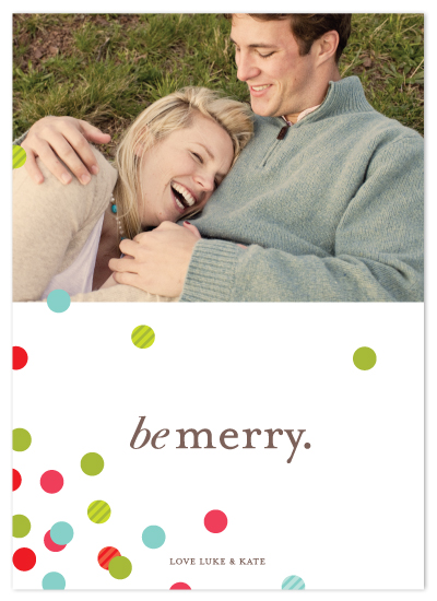 holiday photo cards - confetti scatter by kelli hall
