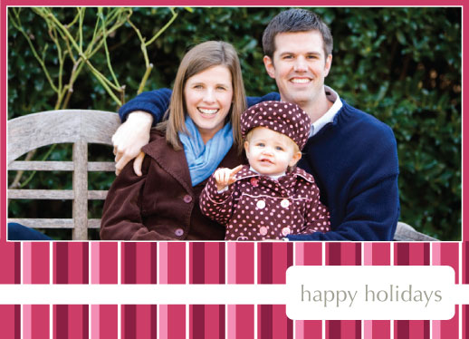 holiday photo cards - Holiday Stripes by Sam F.