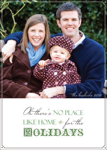 holiday photo cards - Home for the holidays by Julie Kelley