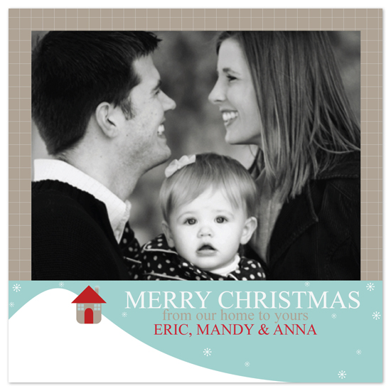 holiday photo cards - Home Sweet Home by jot and scribble