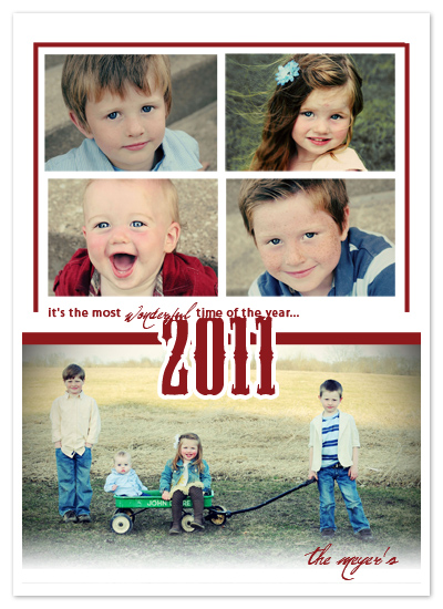 holiday photo cards - The Most Wonderful Time by Stephanie Pearson