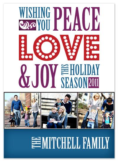 holiday photo cards - Letterpress Inspired Holiday by Katrina Mitchell