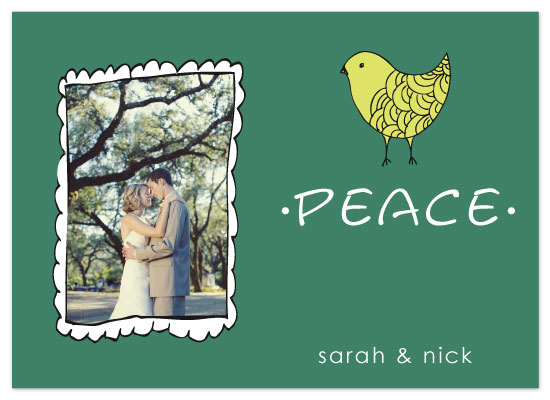 holiday photo cards - peace by Kelly Preusser