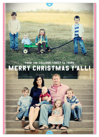 holiday photo cards - Merry Christmas Y'all! by campbell and co.