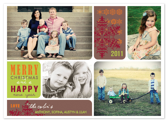 holiday photo cards - Flakes by Stephanie Pearson