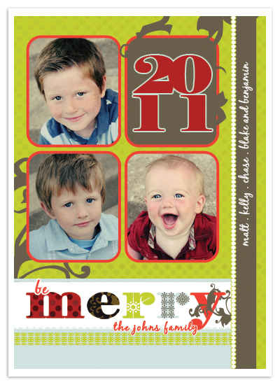 holiday photo cards - Be Merry by Stephanie Pearson