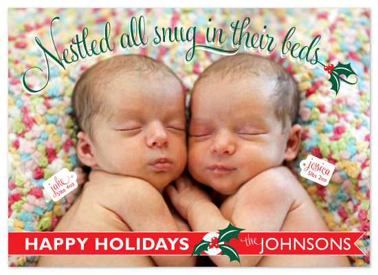 holiday photo cards - Nestled All Snug by roxanne chang