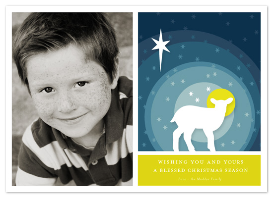 holiday photo cards - Blessed Lamb by Snow and Ivy