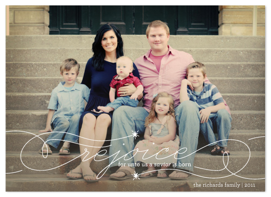 holiday photo cards - Rejoice by Lauren Chism
