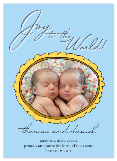 holiday photo cards - Joy to the World! by Kelly Preusser