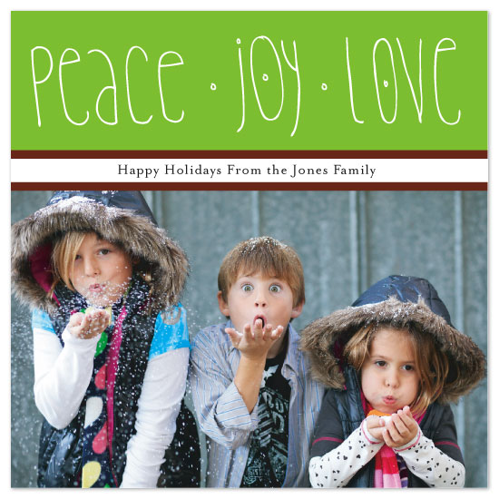 holiday photo cards - Peace, Joy and Love by Kelly Preusser