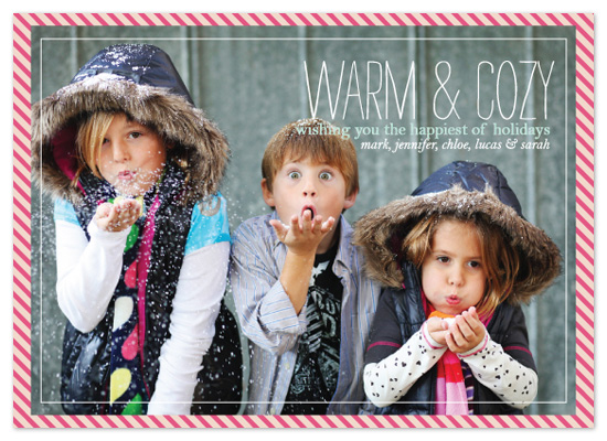 holiday photo cards - warm & cozy  by Jen Gebrosky