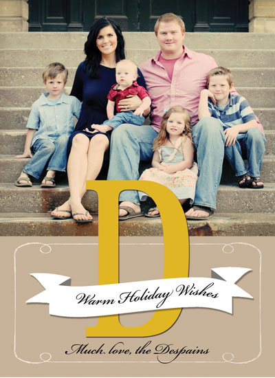 holiday photo cards - Monogrammed by Kelli Despain