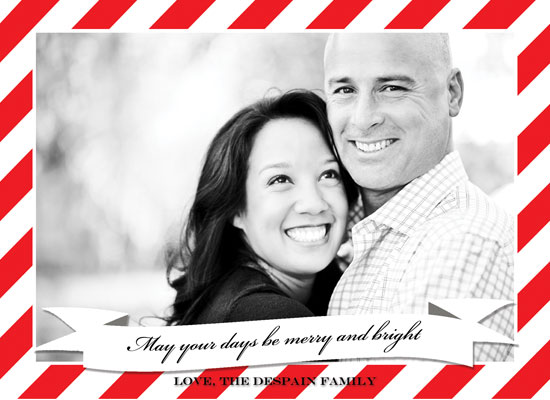holiday photo cards - Stripes of Good Cheer by Kelli Despain