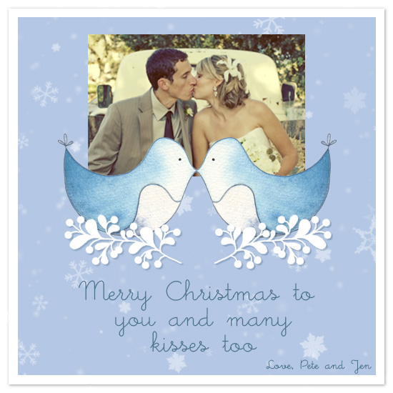 holiday photo cards - Christmas Kisses by Traci Bixby