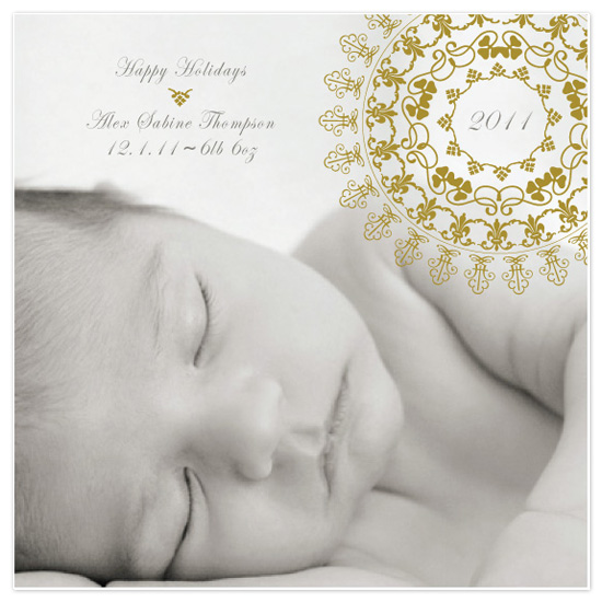 holiday photo cards - gilded starburst by toast events + design