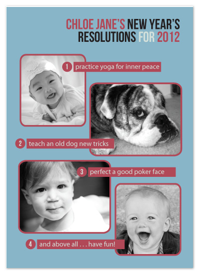 holiday photo cards - Resolutions worth keeping by toast events + design