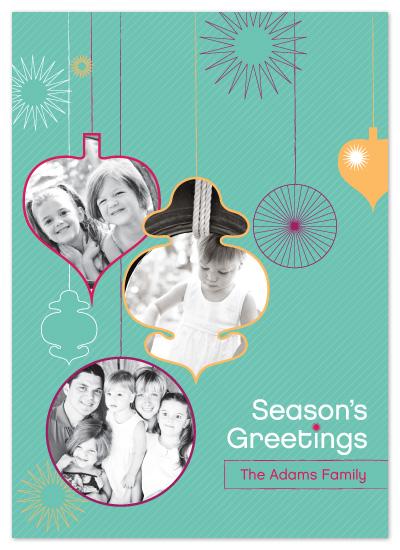 holiday photo cards - Retro Ornaments by Neeti Kapadia